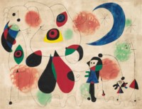 Painting (Women, Moon, Birds)